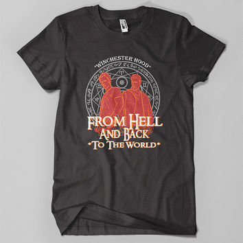 Winchester Hood - From Hell And Back To The World - Inspired Funny Design T-Shirt Man/Woman Made By Order
