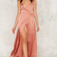 Running Wraps Plunging Dress