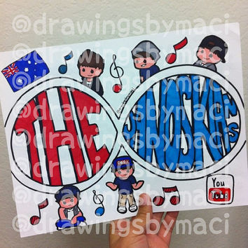 The Janoskians Infinity Drawing by Drawingsbymaci on Etsy