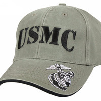 Rothco Deluxe Vintage USMC Embroidered Low Pro Cap