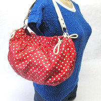 Red White Polka Dot Purse P12