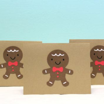 Christmas Card - Gingerbread Man Card - Gingerbread Man Christmas Card