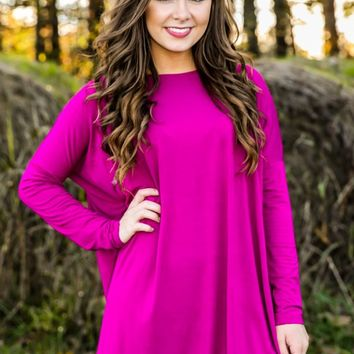 PIKO: Just About Anywhere Tunic-Pink Sapphire