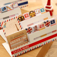 Cute Mini Memo Pad Sticky London post it Note Paper Scrapbooking Sticker Pads Creative Stationery 243