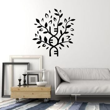Vinyl Wall Decal DNA Tree Medical Office Health Clinic Decor Art Stickers Mural (ig5563)