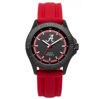 Alabama Crimson Tide Men's Blackout Silicone Strap Watch by Jack Mason