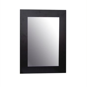Elegant Home Fashions Chatham 26 in. x 19 in. Framed Wall Mirror in Dark Espresso-HD16605 - The Home Depot
