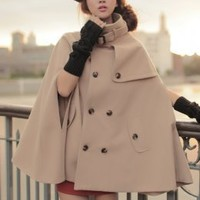 Stars Pattern Camel Cashmere Wholesale Coats : Wholesaleclothing4u.com