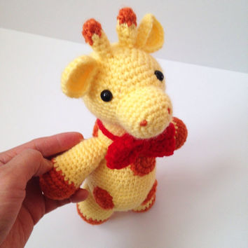Amigurumi Giraffe Crochet Giraffe Stuffed Animal Toy Giraffe Kids Toy Kawaii Giraffe Plush Baby Shower Birthday Gift Ideas Gift for Kids