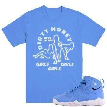 ONETOW DIRTY MONEY- Jordan Pantone 7's Sneaker Match T-Shirt Tees