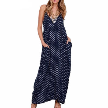 Polka Dot Loose Summer Dress Vintage Style (Plus Sizes)