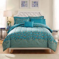 Mainstays Bed in a Bag Bedding Comforter Set, Peacock Feather - Walmart.com