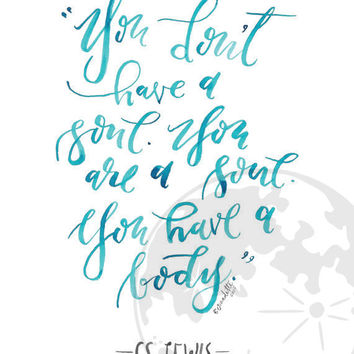 C.S. Lewis Downloadable Print 8x10 // Inspirational Quote // Spiritual Quote