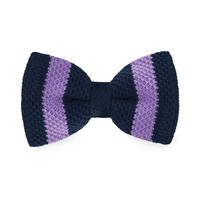 Men's Fashion Bow tie Purple Knitting Adjustable Wool Bow tie For Wedding Party Business