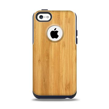 The Light Bamboo Wood Apple iPhone 5c Otterbox Commuter Case Skin Set