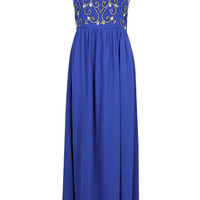 Scarlett Heavy Embellished Woven Maxi Dress