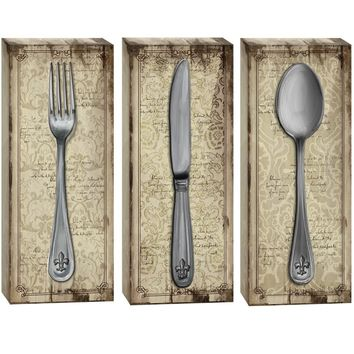 On the Table Canvas Wall Art (Set of 3) (1077) - Illuminada