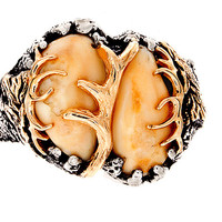 Elk tooth ring, Elk head, Hunting ring, Elk ivory, a trophy you can wear
