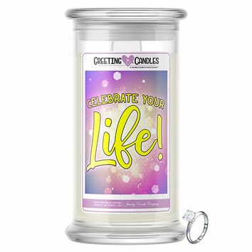 Celebrate Your Life! Jewelry Greeting Candle