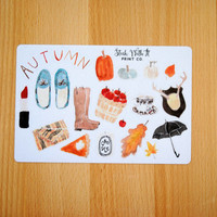 Autumn/Fall Planner Stickers apples boots blankets candles leaves pumpkins tea erin condren life planner filofax kikki k plum planner H2
