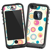 """Retro Pink and Blue """"Protective Decal Skin"""" for LifeProof fre iPhone 5/5s Case"""
