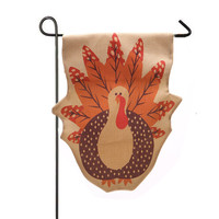1 PC 32*46cm Garden Flag Indoor Outdoor Home Decor Thanksgiving Turkey Fall Flag Happy Giuft High Quality Flax
