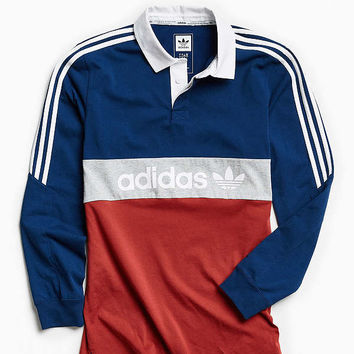 adidas Skateboarding Nautical Rugby Shirt   Urban Outfitters