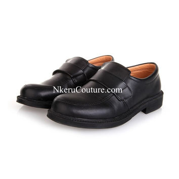 2016 new fashion baby boy kids spring/autumn leather dress shoes flower boy black casual PU leather shoes TW11