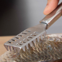Stainless Steel Fish Scaler Scraper Cleaner Remover Tools Home Kitchen Peeler