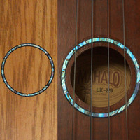 Ukulele Rosette (Abalone Blue) Purflinng Sound hole Inlay Sticker Decal