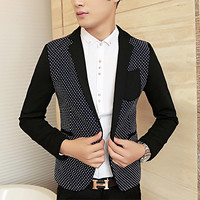 Slim Fit One Button Men's Blazer