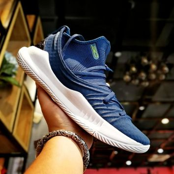 Under Armour UA Curry 5 Blue/White Basketball Shoe