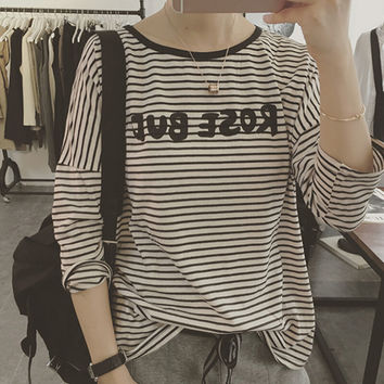 Womens Casual Straps T-Shirt Summer Gift 54
