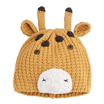 MUD PIE GIRAFFE KNIT HAT