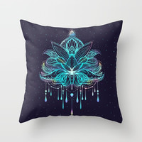 Mandala Throw Pillow by printapix
