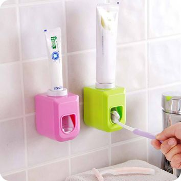 Automatic Toothpaste Dispenser Squeezer Wall Mount Auto Squeezer Toothpaste Dispenser Hands Free Squeeze Out