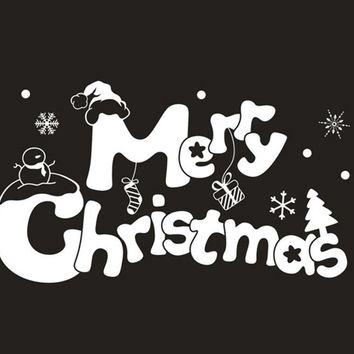 wall sticker Merry Christmas Wall Art Removable Home Vinyl Window
