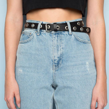 Silver Circle Buckle Belt - Accessories