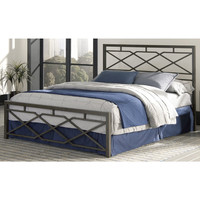 Aspen Carbon Steel Folding Bed Frame with Headboard & Footboard