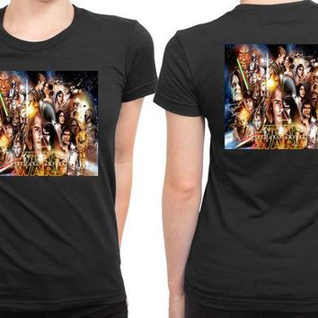 DCCKG72 Star Wars The Force Awakens All Characters 2 Sided Womens T Shirt