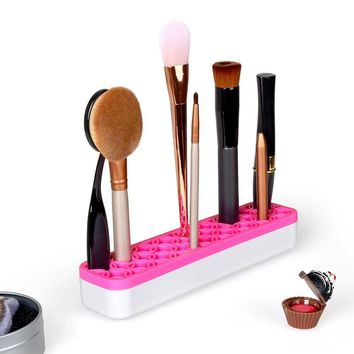 Flexible Professional Silicone Makeup Brush Storage Holder