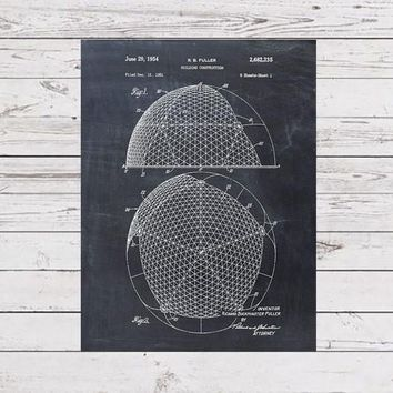 Geodesic Dome Patent Poster - Patent Art Print