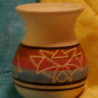 Gorgeous Vintage Signed Marion Selwyn Sioux Native American Pottery Vase
