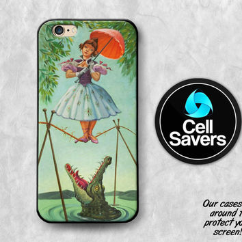 Haunted Mansion iPhone 6s Case iPhone 6 iPhone 6 Plus iPhone 6s + iPhone 5c iPhone 5 iPhone SE Stretching Room Painting Crocodile Umbrella