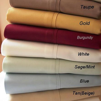 California King Solid 300 Thread count 100% Egyptian cotton Sheet sets
