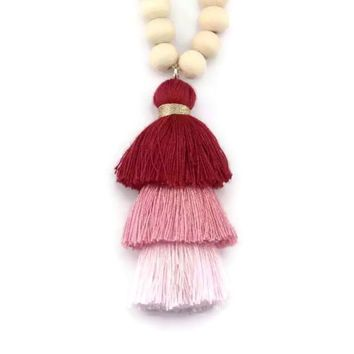 Bree Tassel Necklace Ruby