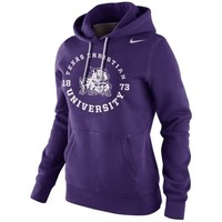 Nike TCU Horned Frogs Womens School Stamp Pullover Hoodie - Purple