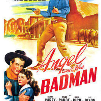 John Wayne ANGEL and the BADMAN movie poster gail RUSSELL western 24X36