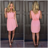 Love Lucy Dotted Dress - Pink