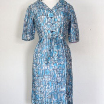 50s / 60s Atomic Shirtwaist Day Dress